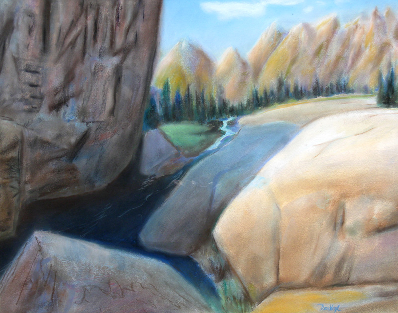 Close to Emerald Lake Rocky Mountain National Park, Colorado (landscapes, Pastel) - Fine Art by Donald G. Vogl, Fort Collins, Colorado