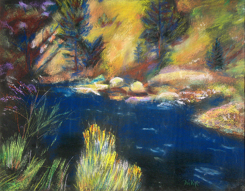 Near Sprague Lake Rocky Mountain National Park, Colorado (landscapes, Pastel) - Fine Art by Donald G. Vogl, Fort Collins, Colorado