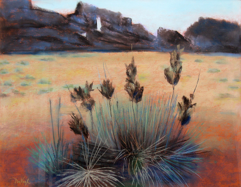 Needle's Eye Devil's Backbone trail, Colorado (landscapes, Pastel) - Fine Art by Donald G. Vogl, Fort Collins, Colorado