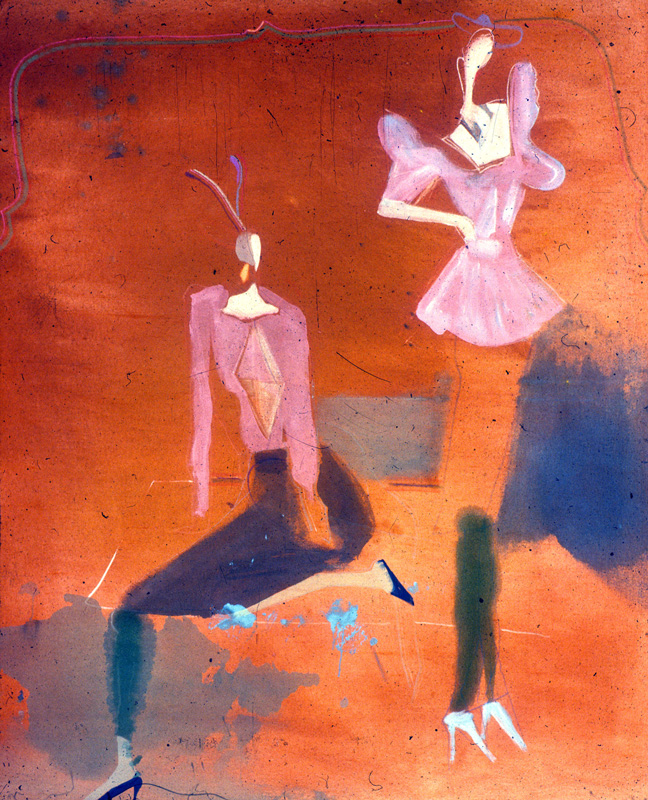 Old Style - New Style  (abstracts figures, Acrylic) - Fine Art by Donald G. Vogl, Fort Collins, Colorado
