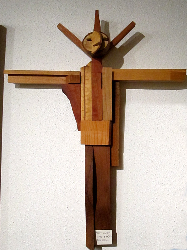 Night and Day  (christian sculptures, Wood) - Fine Art by Donald G. Vogl, Fort Collins, Colorado