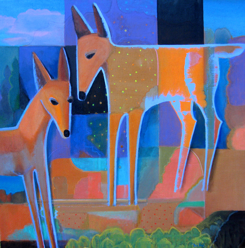 North Star  (animals, Acrylic) - Fine Art by Donald G. Vogl, Fort Collins, Colorado