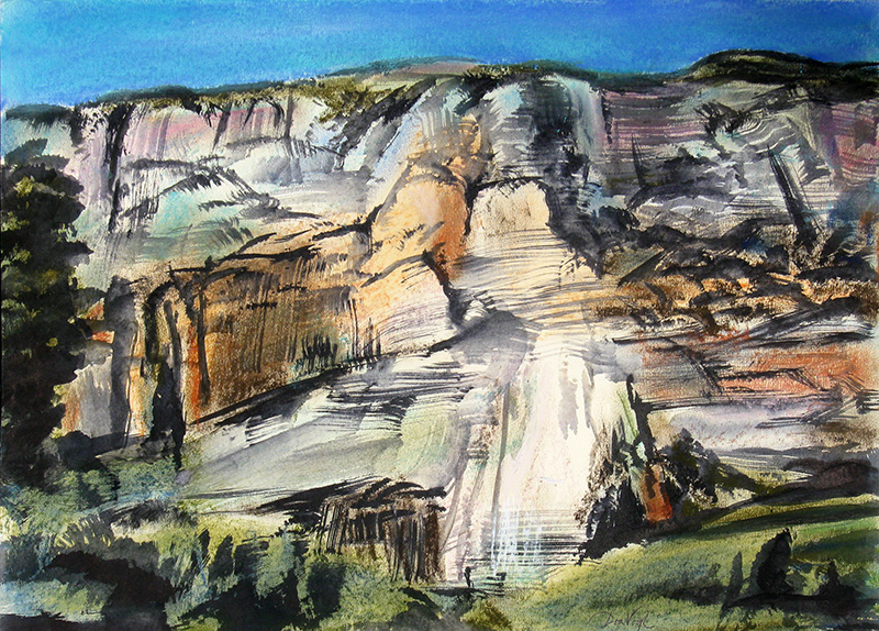 Oak Creek Canyon Wall Sedona, Arizona (landscapes, Pastel) - Fine Art by Donald G. Vogl, Fort Collins, Colorado