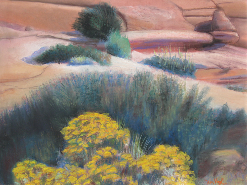 Oasis Utah (landscapes, Pastel) - Fine Art by Donald G. Vogl, Fort Collins, Colorado