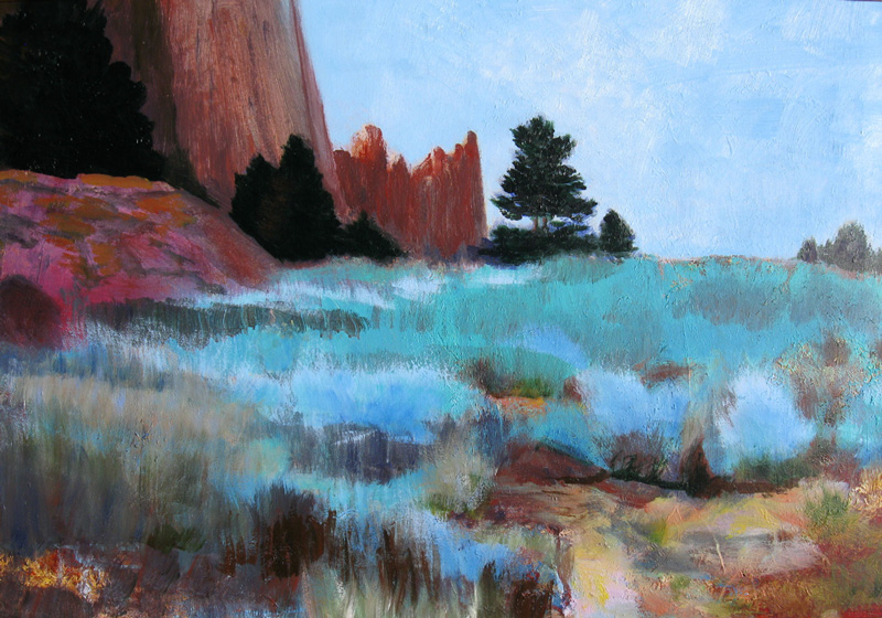 On Path to Windows Arches Arches National Park, Utah (landscapes, Pastel) - Fine Art by Donald G. Vogl, Fort Collins, Colorado