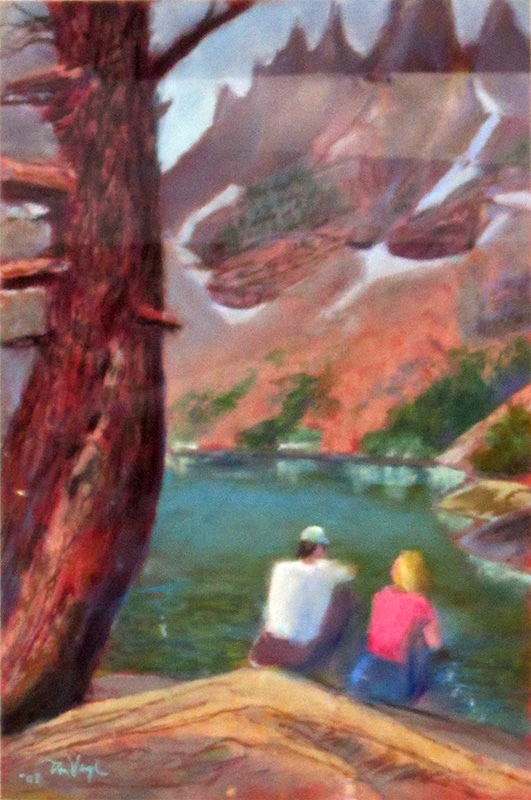 Only Have Eyes for You Colorado (landscapes, Pastel) - Fine Art by Donald G. Vogl, Fort Collins, Colorado