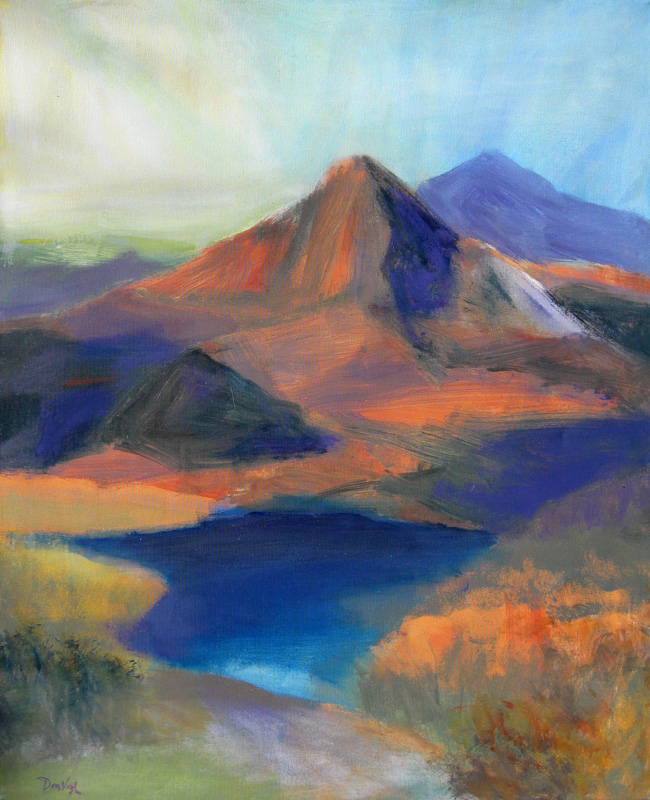 Orange Peak  (landscapes, Acrylic) - Fine Art by Donald G. Vogl, Fort Collins, Colorado