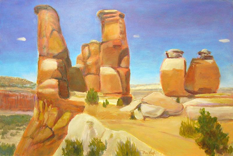 Orange Sentinels Utah (landscapes, Oil) - Fine Art by Donald G. Vogl, Fort Collins, Colorado