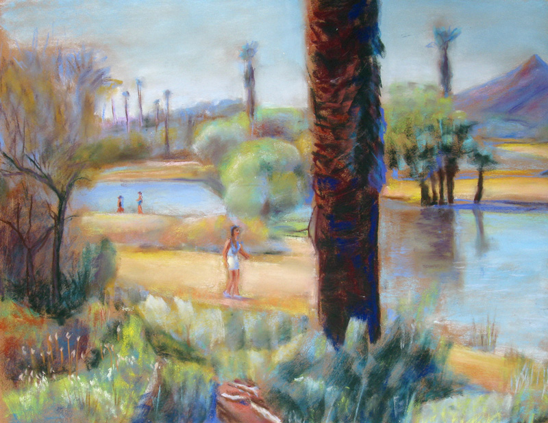 Papago Park Phoenix, Arizona (landscapes, Pastel) - Fine Art by Donald G. Vogl, Fort Collins, Colorado