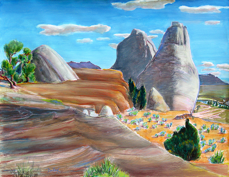 Top of Paria Canyon Paria Canyon, Utah (landscapes, Pastel) - Fine Art by Donald G. Vogl, Fort Collins, Colorado