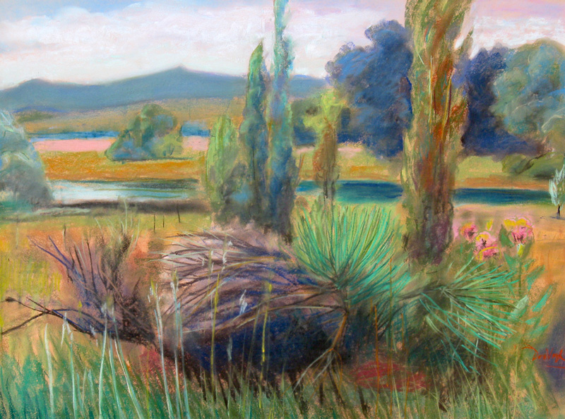 Pastoral Colorado (landscapes, Pastel) - Fine Art by Donald G. Vogl, Fort Collins, Colorado