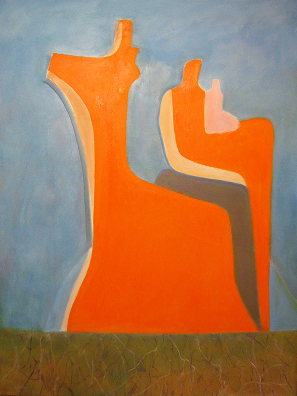 Peaceful  (abstracts figures, Oil) - Fine Art by Donald G. Vogl, Fort Collins, Colorado