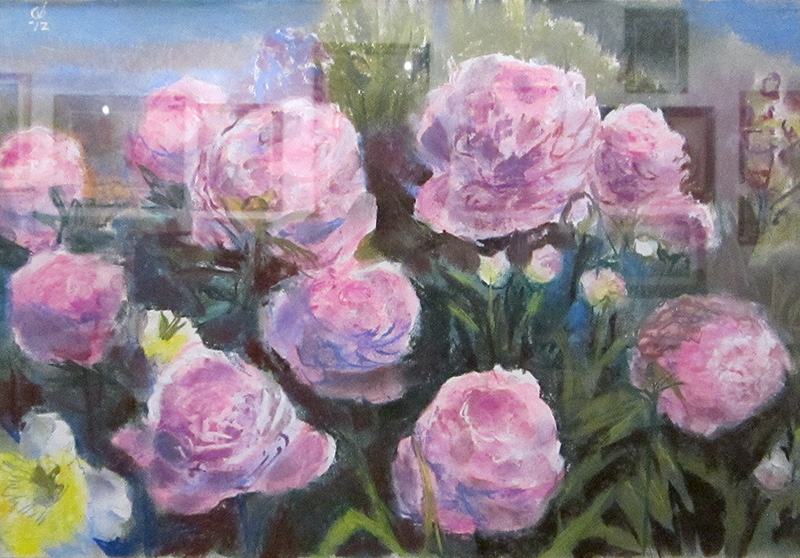 Pink Roses  (still-lifes, Pastel) - Fine Art by Donald G. Vogl, Fort Collins, Colorado