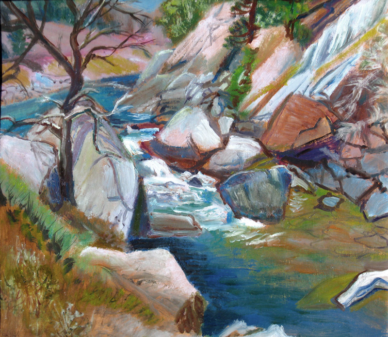 Poudre River Colorado (landscapes, Oil) - Fine Art by Donald G. Vogl, Fort Collins, Colorado