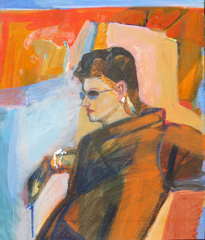 Punk Star  (portraits, Oil) - Fine Art by Donald G. Vogl, Fort Collins, Colorado