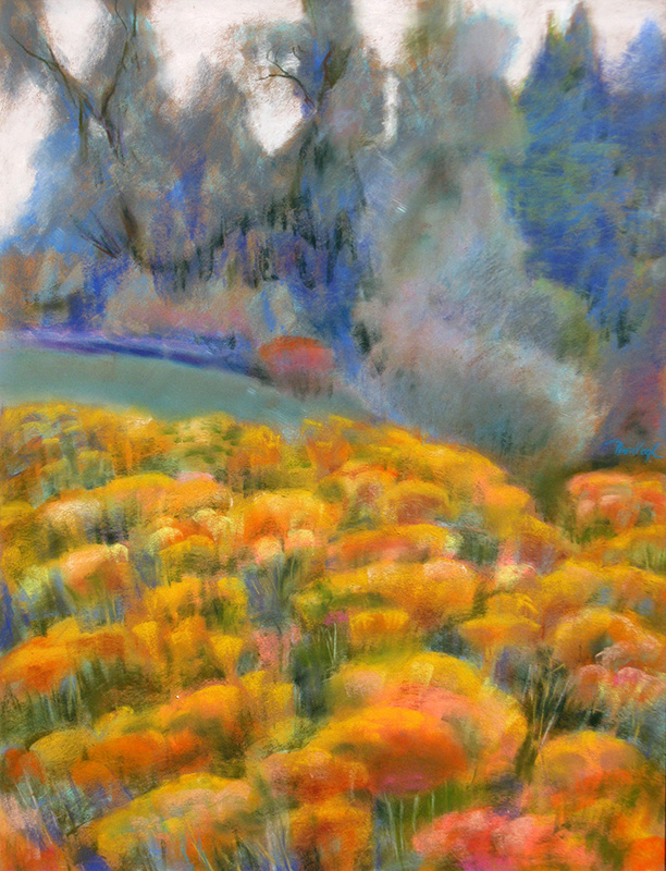 Rabbit Brush Prospect Road, Fort Collins, Colorado (landscapes, Pastel) - Fine Art by Donald G. Vogl, Fort Collins, Colorado