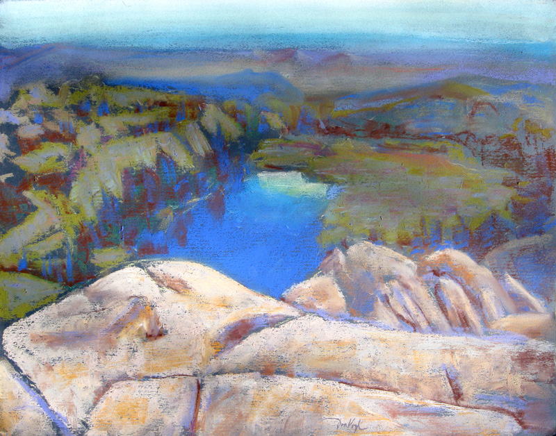 View from Grey Rock Greyrock, Colorado (landscapes, Pastel) - Fine Art by Donald G. Vogl, Fort Collins, Colorado
