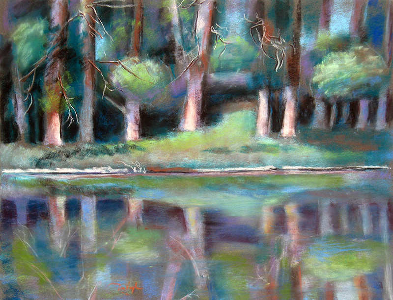 Reflections Colorado (landscapes, Pastel) - Fine Art by Donald G. Vogl, Fort Collins, Colorado