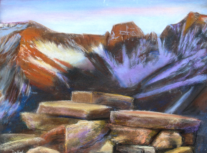 Ridge Road Scene Rocky Mountain National Park, Colorado (landscapes, Pastel) - Fine Art by Donald G. Vogl, Fort Collins, Colorado