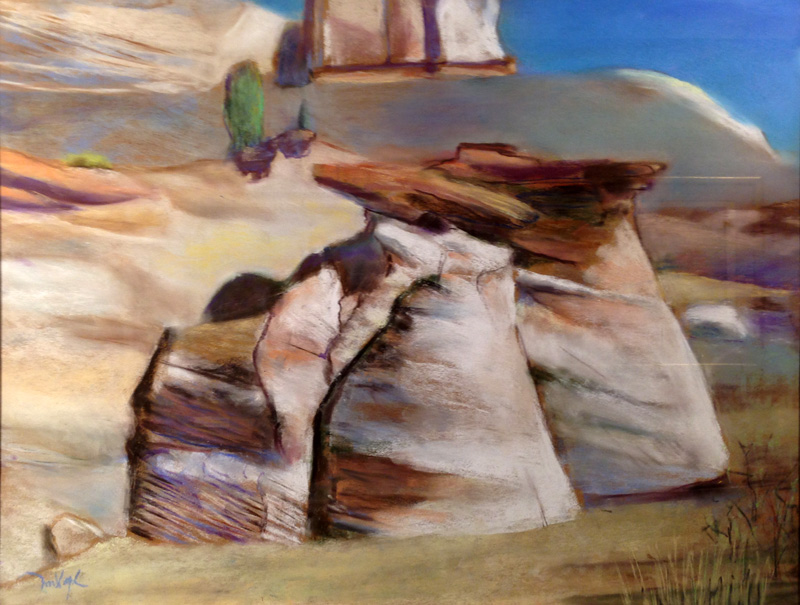 Rock Formation Utah (landscapes, Pastel) - Fine Art by Donald G. Vogl, Fort Collins, Colorado