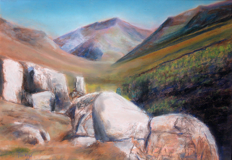 Rocks to Climb Ruby Valley, Nevada (landscapes, Pastel) - Fine Art by Donald G. Vogl, Fort Collins, Colorado