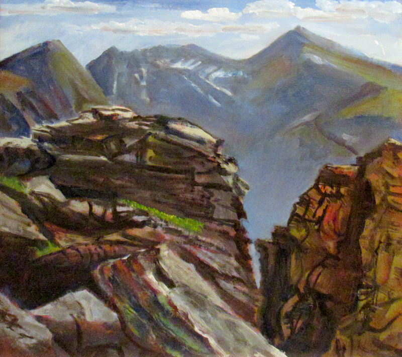 Rocky Mountain View Rocky Mountain National Park, Colorado (landscapes, Watercolor) - Fine Art by Donald G. Vogl, Fort Collins, Colorado