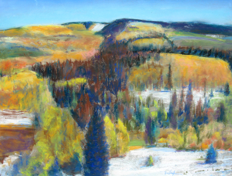 Rolling Hills Colorado (landscapes, Pastel) - Fine Art by Donald G. Vogl, Fort Collins, Colorado