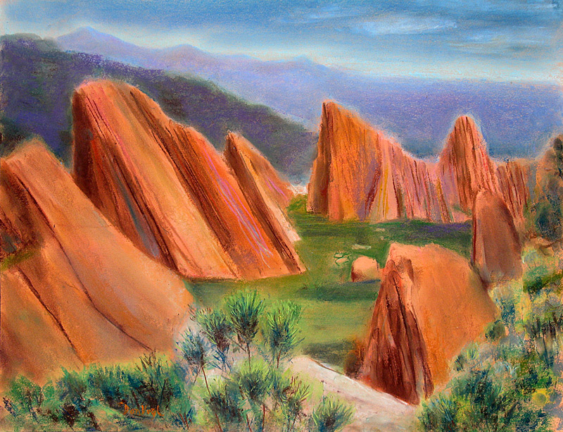 Roxborough State Park Littleton, Colorado (landscapes, Pastel) - Fine Art by Donald G. Vogl, Fort Collins, Colorado