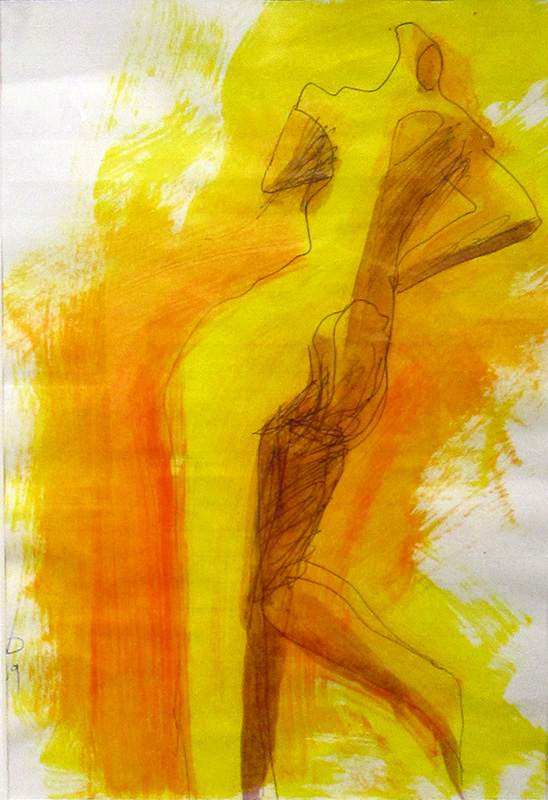 Runner  (abstracts figures, Acrylic) - Fine Art by Donald G. Vogl, Fort Collins, Colorado