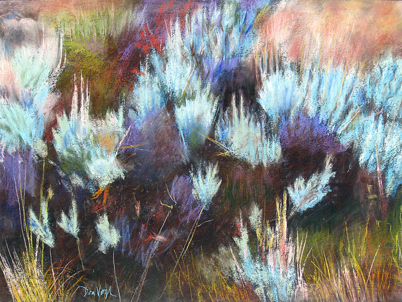 Sage Colorado (landscapes, Pastel) - Fine Art by Donald G. Vogl, Fort Collins, Colorado