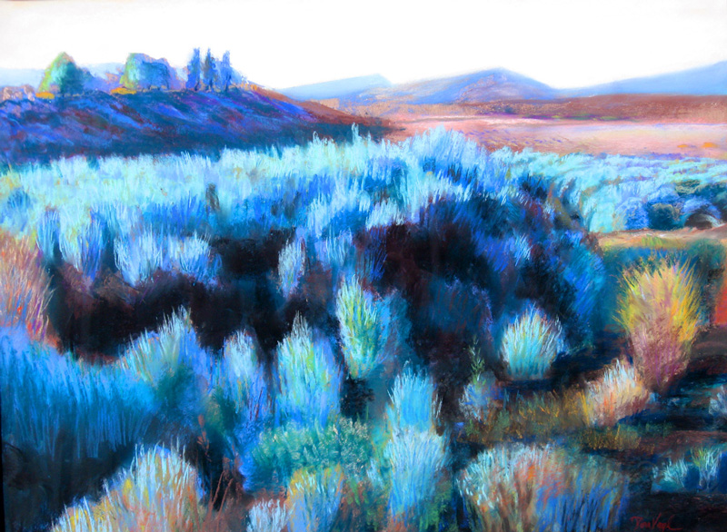 Sagebrush Colorado (landscapes, Pastel) - Fine Art by Donald G. Vogl, Fort Collins, Colorado