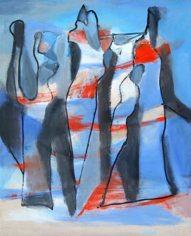 Samba  (abstracts figures, Oil) - Fine Art by Donald G. Vogl, Fort Collins, Colorado