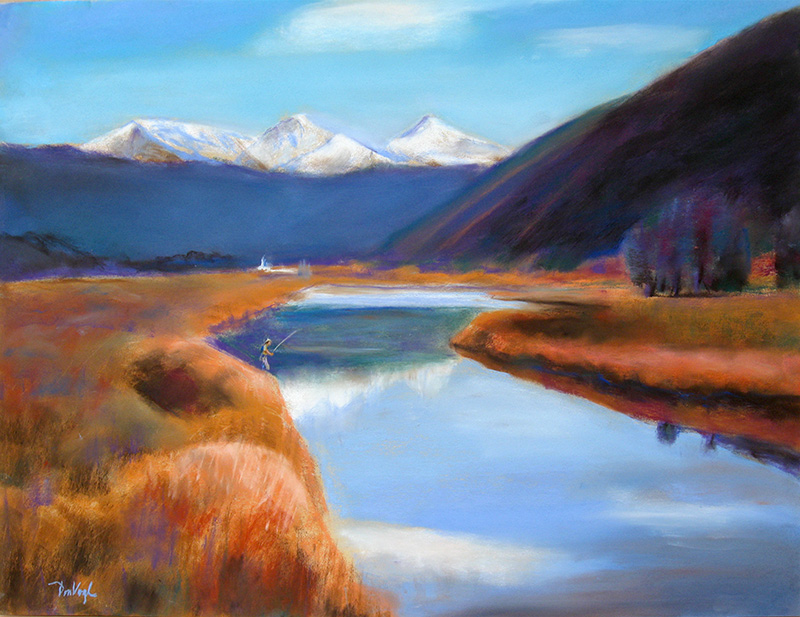 Saxton Mountain near Georgetown, Colorado (landscapes, Pastel) - Fine Art by Donald G. Vogl, Fort Collins, Colorado
