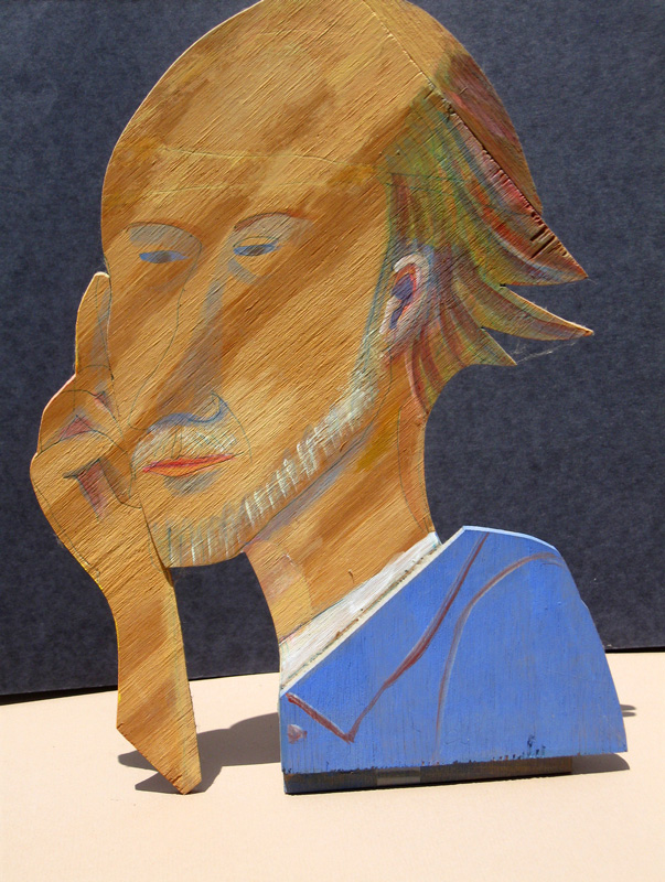 Self Portrait  (portraits, Wood) - Fine Art by Donald G. Vogl, Fort Collins, Colorado