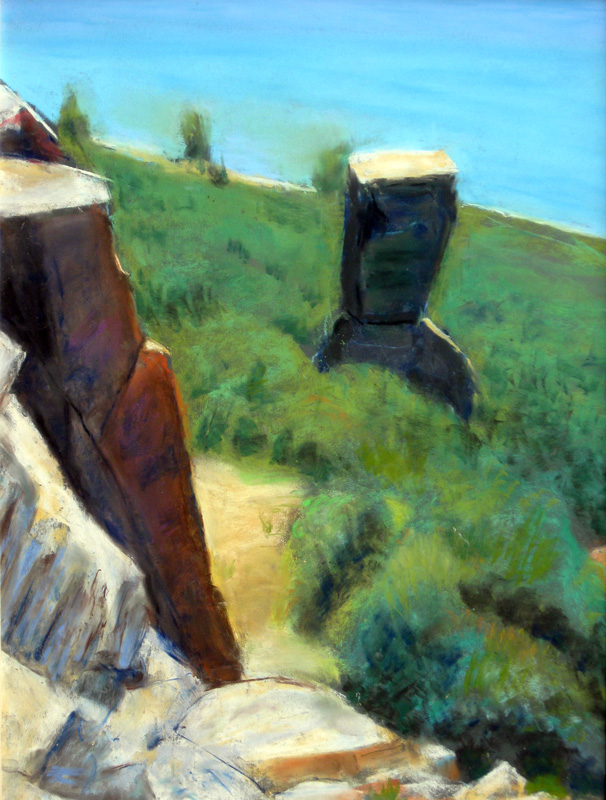 Sentinel Rock, Horsetooth Reservoir Horsetooth Reservoir, Colorado (landscapes, Pastel) - Fine Art by Donald G. Vogl, Fort Collins, Colorado