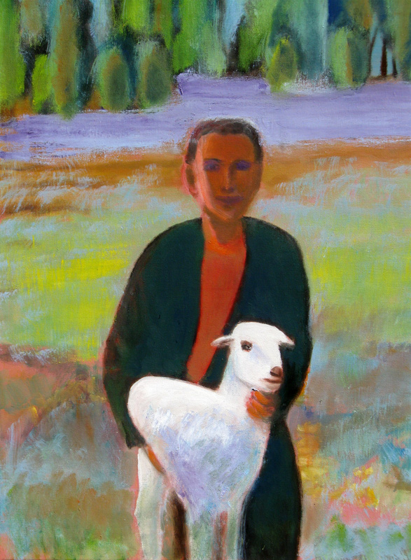 Shepherd Morocco (portraits, Acrylic) - Fine Art by Donald G. Vogl, Fort Collins, Colorado