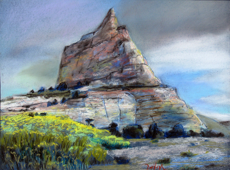 Ship Rock Utah (landscapes, Pastel) - Fine Art by Donald G. Vogl, Fort Collins, Colorado
