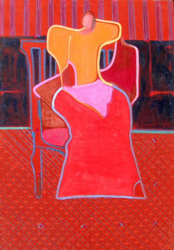 Sitter  (figures, Acrylic) - Fine Art by Donald G. Vogl, Fort Collins, Colorado