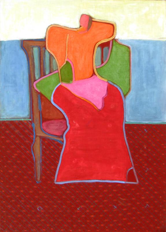 Sitter  (figures, Acrylic) - Fine Art by Donald G. Vogl, Fort Collins, Colorado