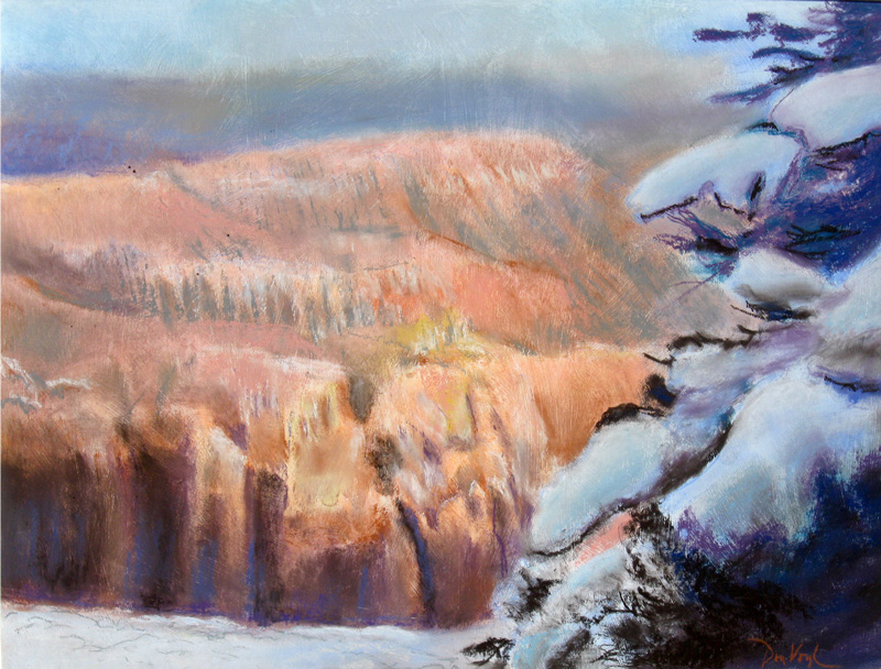 Snow on Cedar Breaks Cedar Breaks National Monument, Utah (landscapes, Pastel) - Fine Art by Donald G. Vogl, Fort Collins, Colorado