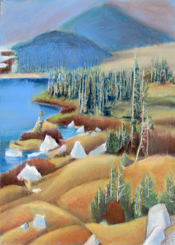 Snowy Range Wyoming (landscapes, Watercolor & Pastel) - Fine Art by Donald G. Vogl, Fort Collins, Colorado