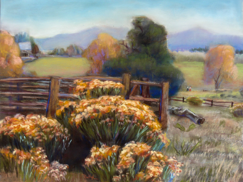 Soderberg Park Fort Collins, Colorado (landscapes, Pastel) - Fine Art by Donald G. Vogl, Fort Collins, Colorado