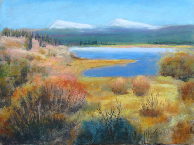 South Dillon Reservoir Colorado (landscapes, Pastel) - Fine Art by Donald G. Vogl, Fort Collins, Colorado