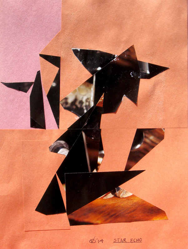 Star Echo  (collages, Collage) - Fine Art by Donald G. Vogl, Fort Collins, Colorado