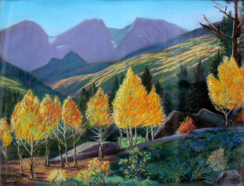 Storm Pass Rocky Mountain National Park, Colorado (landscapes, Pastel) - Fine Art by Donald G. Vogl, Fort Collins, Colorado