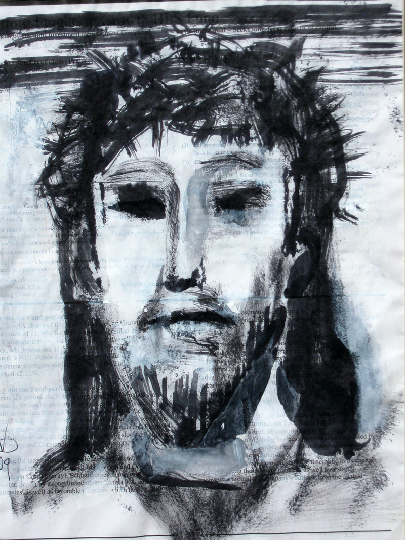 Suffering  (portraits christian, Acrylic) - Fine Art by Donald G. Vogl, Fort Collins, Colorado