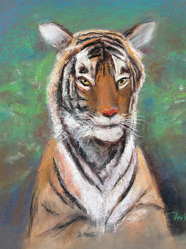 Tiger  (animals, Pastel) - Fine Art by Donald G. Vogl, Fort Collins, Colorado