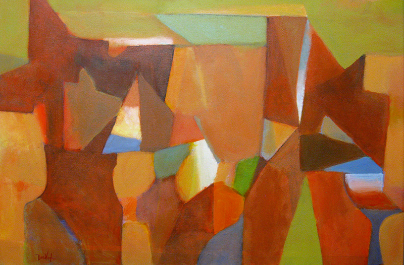 Tipping My Hat  (abstracts, Acrylic) - Fine Art by Donald G. Vogl, Fort Collins, Colorado