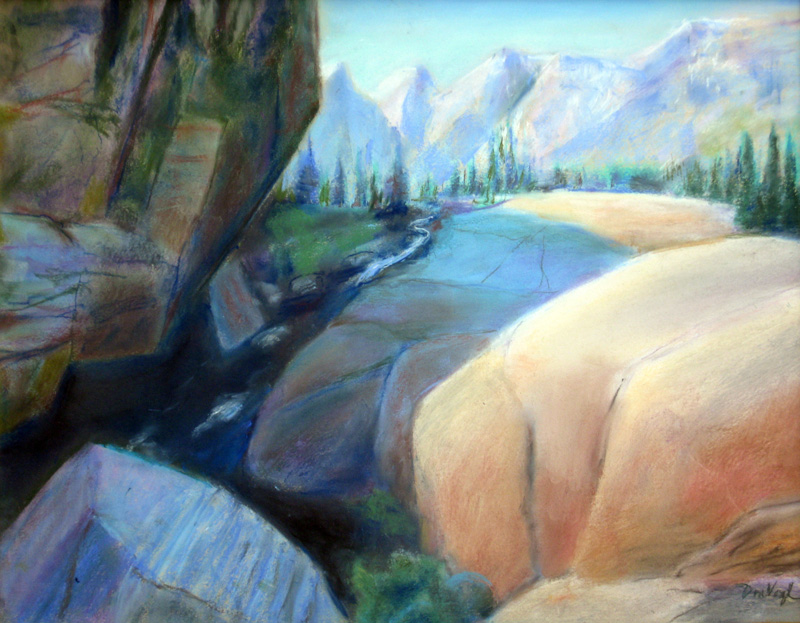 Toward Hallet's Peak Rocky Mountain National Park, Colorado (landscapes, Pastel) - Fine Art by Donald G. Vogl, Fort Collins, Colorado