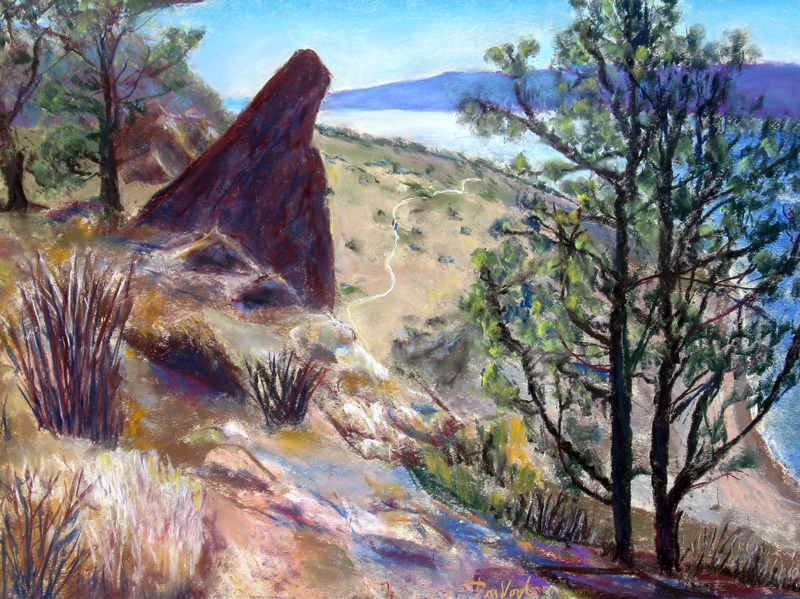 Trailhead, Horsetooth Horsetooth Reservoir, Colorado (landscapes, Pastel) - Fine Art by Donald G. Vogl, Fort Collins, Colorado